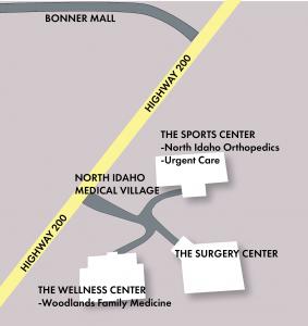 Map for North Idaho Medical Village