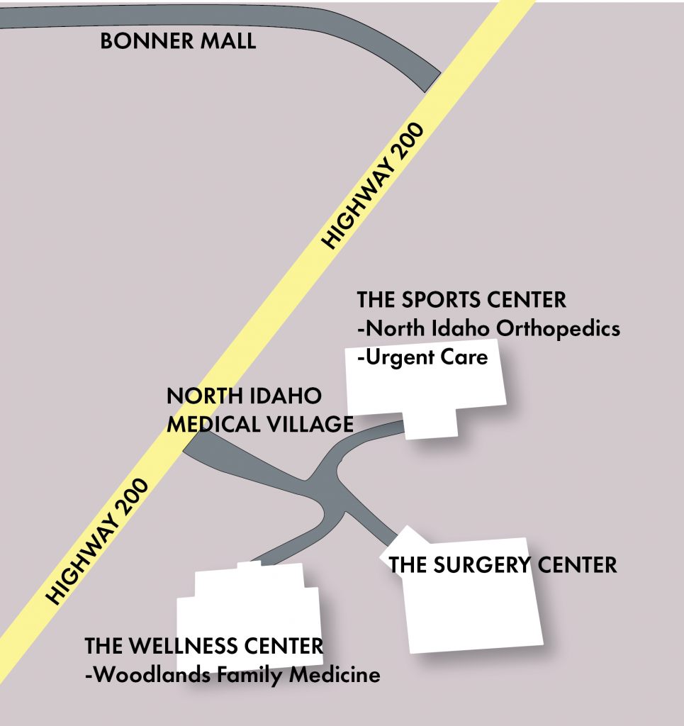 Map for North Idaho Medical Village, contact our office for more information